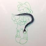 G.RIOT, DIPINTO 3D SU CALCE